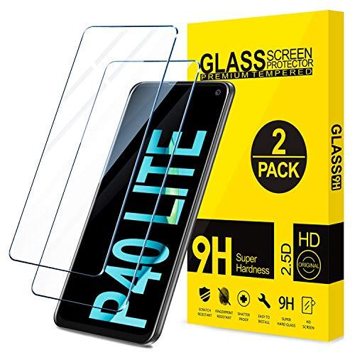 AROYI [2 Stück Panzerglas Schutzfolie für Huawei P40 Lite, 9H Härte, Anti-Kratzen, Blasenfrei, HD Klar, Displayschutzfolie Glas für Huawei P40 Lite