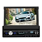 Sistema multimediale per auto, lettore video retrattile per auto da 7 pollici Navigazione GPS MP5 Touch Screen Radio Player, supporto AM Ricezione segmento audio, supporto RDS, qualità radio ad alta d