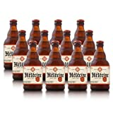 Hélécine - Cerveza de abadía belga Triple Blonde - Pack de 12 Botellas de 33 cl