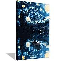 星空の夜の反射キャンバスのポスターと壁のアートの写真プリント家族のリビングルームのための現代絵画は贈り物を飾る