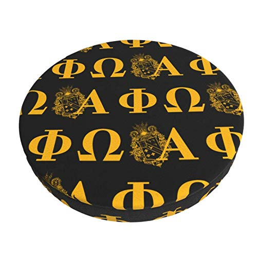 Alpha Phi Omega Round Stool Cushions Round Bar Stool Cover Seat Cushion Chair Seat Slip Cover Washable