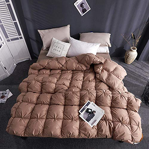 CHOU DAN Duvet 95 white goose down five-star hotel genuine feather quilt winter quilt warm quilt core thickened single double-150 * 200cm 4000g_coffee