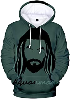 Letter Pullover 3D Aquaman Sweatshirt Hoodies Men and Women Hip Hop Streetwear Hoodies Sweatshirt for Couples Clothes