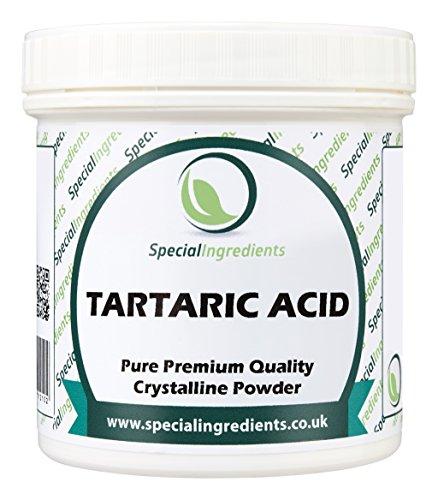 Special Ingredients Acido Tartarico 100 gr qualità premium (Etichette ed istruzioni in italiano)