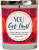 You Got This,Best Friend, Friendship Gifts for Women, Funny Candle Gifts for Friends, BFF Going Away, Thankyou,Inspirational Gifts, Encouragement,Long Distance, Funny 10 oz. Scented Soy Candle