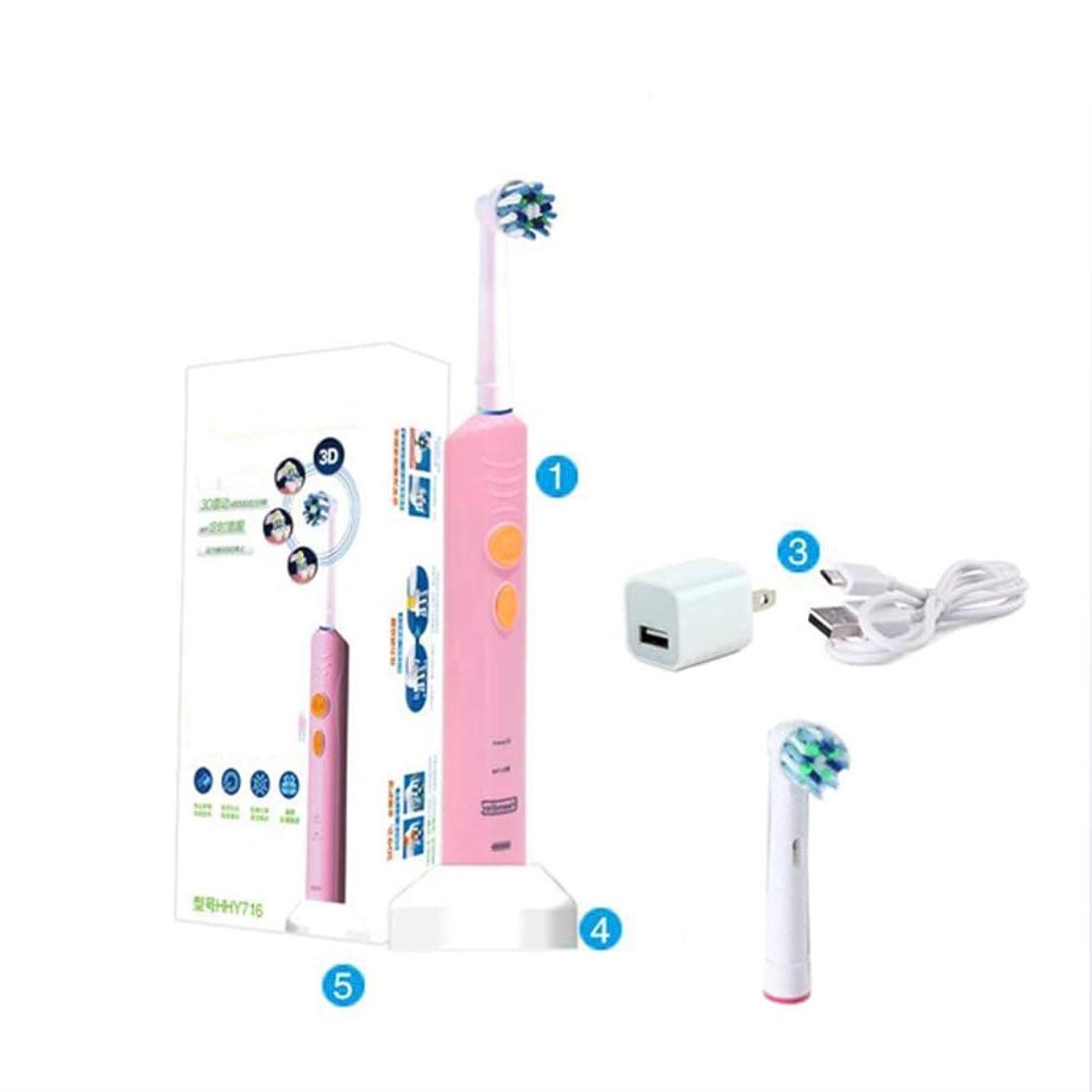 会話型起きろ素晴らしき電気ソニック充電式歯ブラシ、2つの交換可能なブラシヘッド、2つのモード、誘導充電、IPX7防水、2分のスマートタイミングと30秒のゾーンリマインダ、大人のための女性と男性