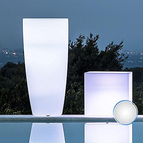 Pot rond 'stylet Lamp' avec lumière intérieure. En polyéthylène coloré. Le design élégant en pur style moderne, est un excellent complément d'ameublement et se lie à multiples milieux dans lesquels est placé.