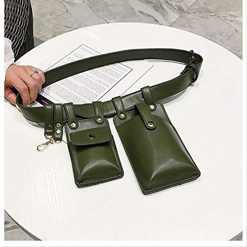 MGPLBYA Cintura Fanny Pack Bombag Bumm Bag Bolsas de Cuero para Mujeres Hombro Messenger Bolsa de Cofre PU Paquetes de Cuero de PU Tenedor de teléfono móvil Bolsa de Cintura