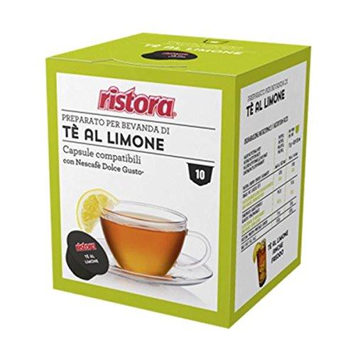 40 Cialde Capsule Compatibili Dolce Gusto Ristora Te' al Limone Originali