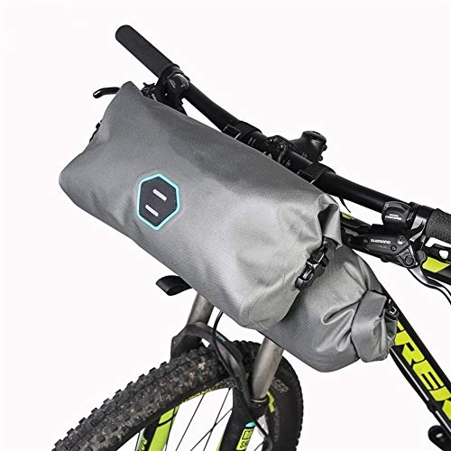 Bolsa de Cuadro de Bicicleta 2pcs / Set Impermeable Ajustable Capacidad Bicicleta de la Bici del Manillar de Mano Pannier Dry Pack para MTB al Aire Libre (Color : Gray)