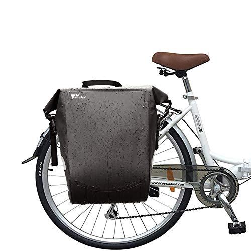 Bolsa Trasera para Bicicleta - amzdeal Bolsa Alforja de Bicicleta Impermeable, Bolsa Bicicleta Multifuncional, Bolso y Bandolera con Correa de Hombro, Bolsa de Transporte para Bicicleta de Montaña