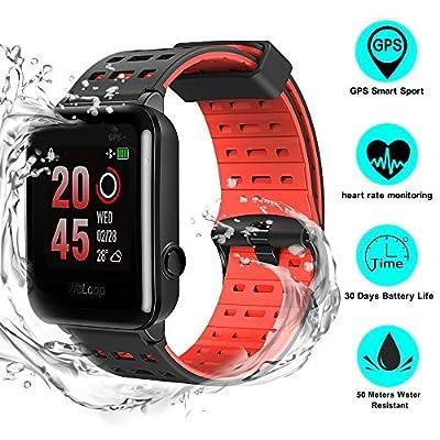 GPS Smartwatch, Weloop Hey 3s Outdoor IP68 Waterproof Running Swimming Sport Smartwatch, Fitness Activity Tracker Bluetooth Smartwatch Heart Rate Sleep Monitor Watch for iPhone android