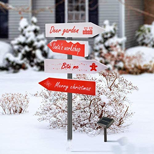 Outable Christmas Solar Stake Lights Outdoor Solar Christmas Yard Decorations Xmas Pathway Lights product image