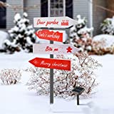 Outable Christmas Solar Stake Lights Outdoor - Solar Christmas Yard Decorations - Xmas Pathway Lights for Holiday Garden, Lawn, Patio, Snowfield Decor