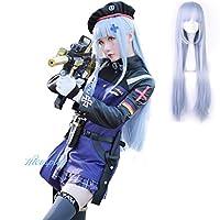 【Hicosplay】ドールズフロントライン HK416 コスプレ 衣装 少女前線 GirlsFrontline 自動小铳 コスチューム 404 帽子付き 小バッグ付き ウィッグ追加可能 (M, Bセット(ウィッグ付き))