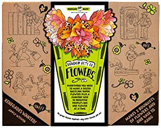 Renegade Made | Random Acts of Flowers KIT | Paper Art for Kids. Fun and Creative Flower Crafts for Kids. DIY Arts and Cra...