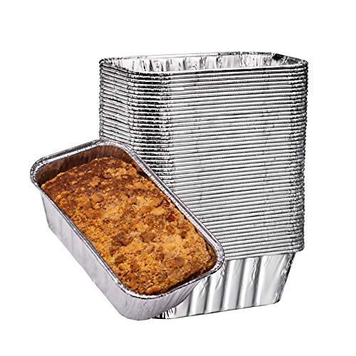 Elite Selection Aluminum Foil Pans (1LB Loaf Pan's) 50 pieces