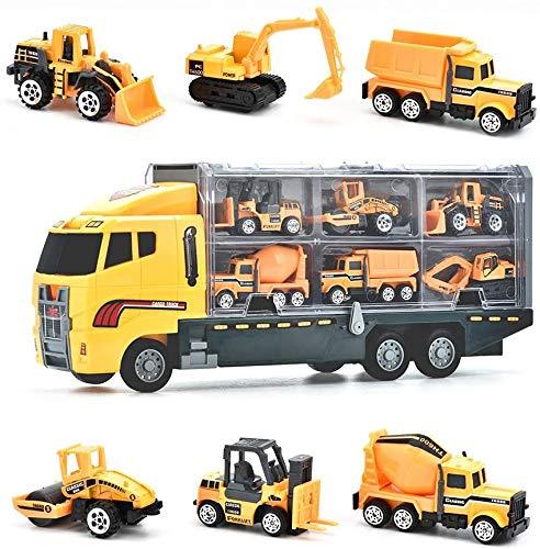 Juguetes de Construcción Juegos Vehículos de Aleación para Niños Juego Tractor Camión...