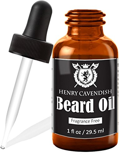 Henry Cavendish Beard Oil/Pre-Shave Oil. Fragrance Free. With Organic Jojoba, Sunflower, Shea and Argon Oils (1 Ounce) by Henry Cavendish