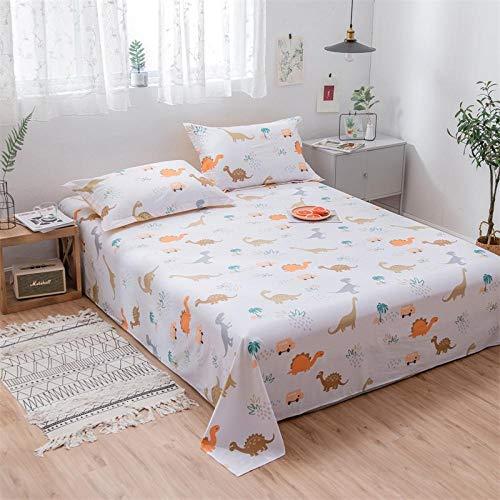 Juego de sábanas planas de rayas de café Juego de cama de tela de algodón 100% Ropa de cama, sábana ajustable de algodón cepillado, juego de cama de algodón de sábanas dobles @ violet_160cmx230cm