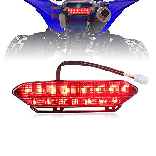 Akmties LED Tail Light Brake Rear Light for ATV 2006-2009 Yamaha YFZ450(Smoked 1pcs)
