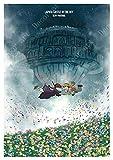Wfmhra City Sky Hayao Miyazaki Retro Lienzo Pintura Cartel Pintura al óleo decoración del hogar 50x75 cm sin Marco