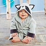 XCYG Albornoz de bebé con diseño de Panda de ratón pequeño y Encantador, Albornoz de algodón Puro con Capucha, Toalla de baño de Playa/ratoncitos, Bata de SPA, Ponchos Infantiles, Mapache
