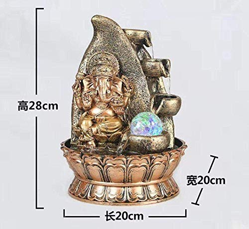 My Aashis Ganesha Side Waterfalling Fountain for Indoor Space