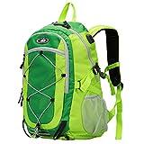 Monzana Wanderrucksack Sportrucksack 25L Outdoor Trekking Hiking Freizeit Rucksack wasserdichte Hülle Brustgurt USB grün