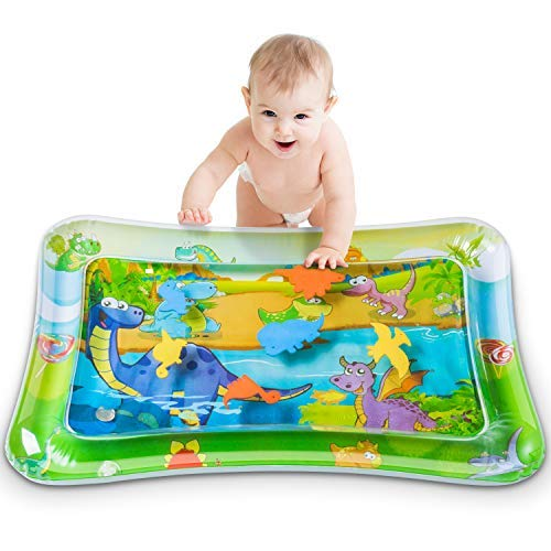 Tummy Time Baby Water Play Mat,Baby Inflatable Water Play Mat Activity Center...