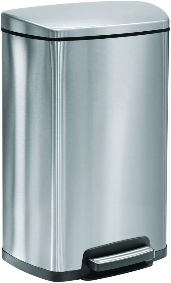 Tramontina Step Trash Can free shipping Stainless Steel Gray Two Baltimore Mall gal fr 13