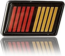 Jdm Ralliart Black/Red/Orange Front Mesh Grill Grille Emblem Badge for Mitsubishi Lancer Evo Evolution Gen 6 7 8 9 10 Generation