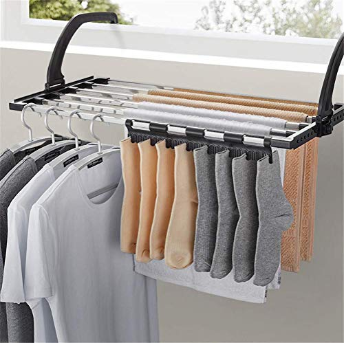 ZJHCC Folding Clothes DryerFolding Laundry Towel Drying Rack Balcony Windowsill Fence Guardrail Corridor,Flower Display Rack Folding Table Hanging Side Table (Stainless Steel)