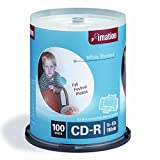 Imation IMN17274 CD Recordable Media, CD-R, 52x, 700 MB, 100 Pack Spindle