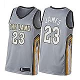 DIMOCHEN Movement Ropa Jerseys de Baloncesto para Hombres, NBA Cleveland Cavaliers 23# James,Fresco, cómodo, Camiseta Uniformes Deportivos Tops(Size:M,Color:G1)