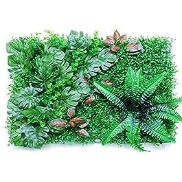 60x40cm Haie Artificielle Plante Verte Panneau de Mur Végétal Gazon Artificiel pour Mariage ou Decoration Interieure DIY…