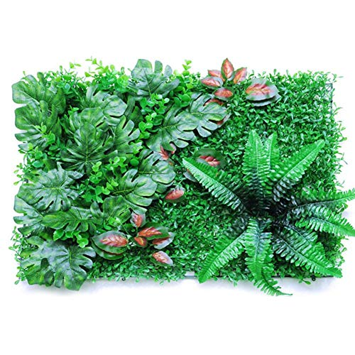 mementoy Artificial Plant Panel Grass Background Wall Ivy Leaf Hedge Privacy Fence Screen For Home Garden Backyard Wedding Decoration, 60x40cm