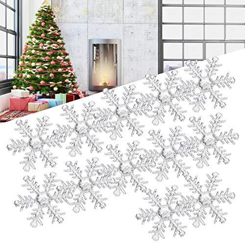 Seacanl 200pcs / Pack Decoración Linda de los Copos de Nieve, Confeti de los Copos de Nieve, para el cumpleaños DIY