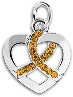 heart charms gold