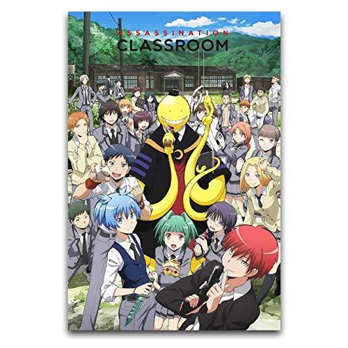 WPQL Póster de anime japonés Assassination Classroom 30 x 45 cm