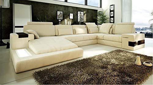 Winpavo Sofas & Sofas Sofa Corner Sofa Set Sofa Ecksofa Mit Led-Licht Sofa
