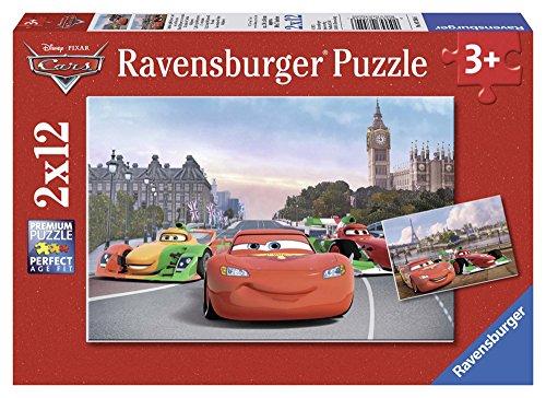 Ravensburger - 07554 - Puzzle Enfant Classique - Cars - 2 x 12 Pièces