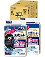 【Amazon.co.jp限定】 デオシート 犬用 シート PREMIUM 12時間超消臭 超吸収 レギュラー 168枚(84枚×2) おしっこ ペット用品 ユニチャーム 犬