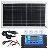 BESPORTBLE 50W 18VSolar Panel Kit Crystal Silicon Solar Cell Panel Solar Battery Panel Board Outdoor Photovoltaic Power Panel for Laptop Car Boat RV Trailer