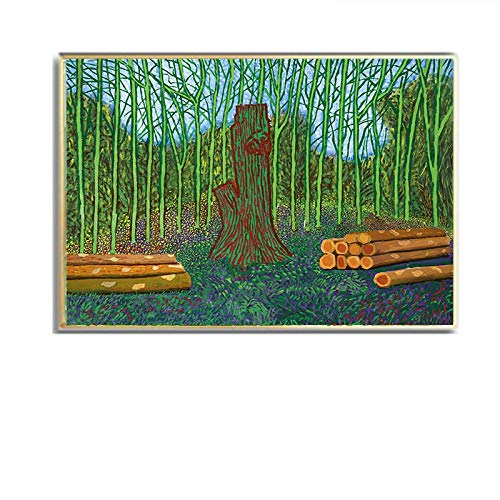 David Hockney paisaje rural tierras de cultivo bosque paisaje rural lienzo pintura árboles y flores arte de la pared impresión cartel sala de estar oficina estudio decoración del hogar
