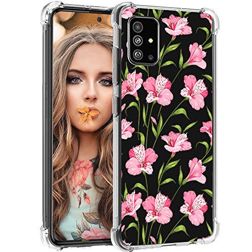 wonfurd Funda para Samsung Galaxy A51, diseño de mariposa transparente, TPU transparente a prueba de golpes, funda protectora para mujer de 6,5 pulgadas, mariposa