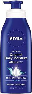 NIVEA Original Daily Moisture Body Lotion with Vitamin E, 16.9 Fl Oz Pump Bottle