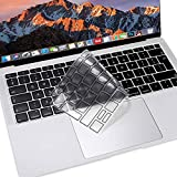 MOSISO Premium Ultra Thin TPU Protector de Teclado Compatible con MacBook Air 13 Pulgadas 2019 2018 A1932 Pantalla Retina & Touch ID, Cubierta de Piel Transparente Suave Diseño de Europa,Negro Mate