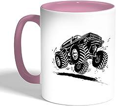 Printed Coffee Mug, Pink Color, Modified Car