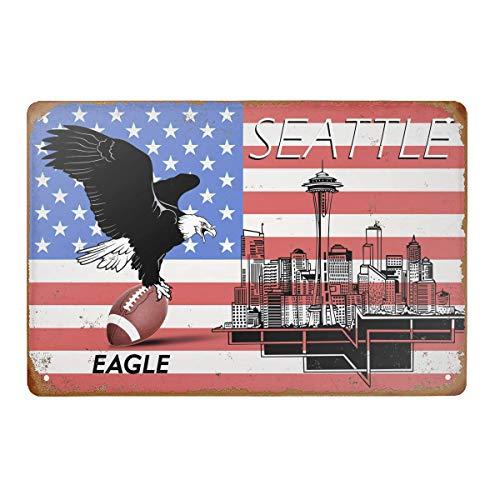 Blechschild, American Football, Vintage-Stil, für Bar, Pub, Garage, Hotel, Diner, Café, Zuhause